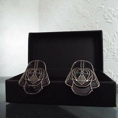 Pair of Stylish Star Wars Darth Vader Cufflinks in gift box