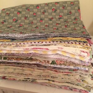 15 Mixed Large Fabric Material Squares Scraps Offcuts Quilting Patchwork Bunting
