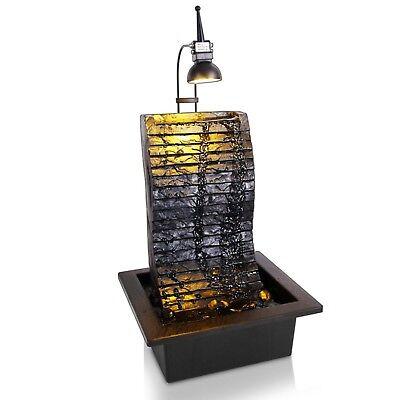 SereneLife Indoor/Outdoor Electric Tabletop Zen Water Fountain Decoration