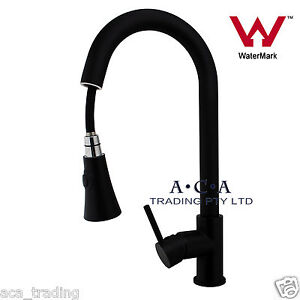 Aca Pull Out Spout Spray Swivel Laundry Sink Kitchen Tap Mixer Faucet Black Wels Ebay