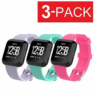 3-PACK Replacement Bracelet Watch Band Strap Fitness For Fitbit Versa Jewelry & Watches
