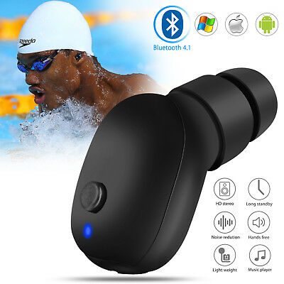 Bluetooth 4.1 Wireless Waterproof Stereo Earphone Earbud Sport Headset Headphone