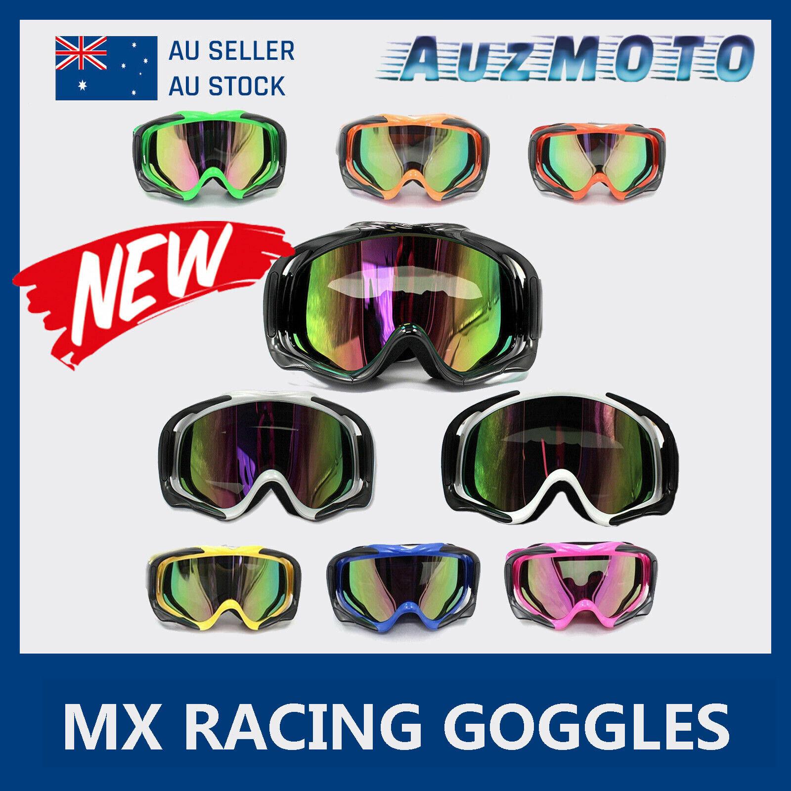 Dirt Bike MX Motocross Goggles anti-fog UV protection tinted graffiti Tinted Len