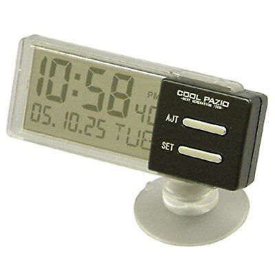 YAC PZ-372 Compact See Through Simple Clear Digital Clocks F/S w/Tracking# Japan