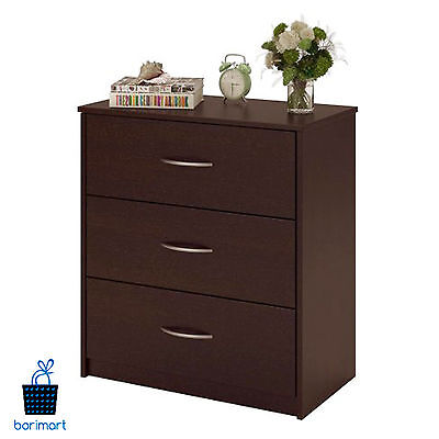 كومودينو جديد Cherry 3 Drawer Dresser Bedroom Storage Drawers Furniture Chest