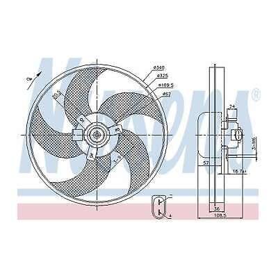Genuine Nissens Engine Cooling Radiator Fan - 85668
