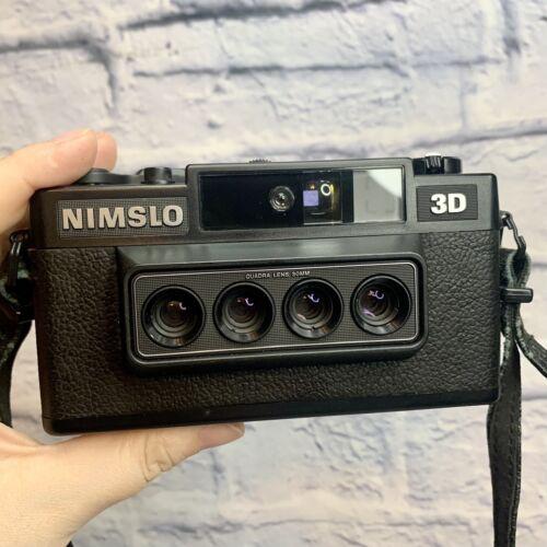 Nimslo 3D Quadra Lens 35mm Film Camera With Case - $249.95