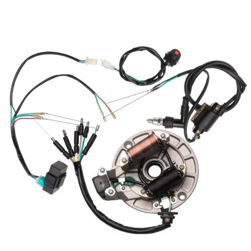 50 70 110 125 140cc Wire Harness Cdi Coil Electrics Dirt Bike Stator Magneto Tu