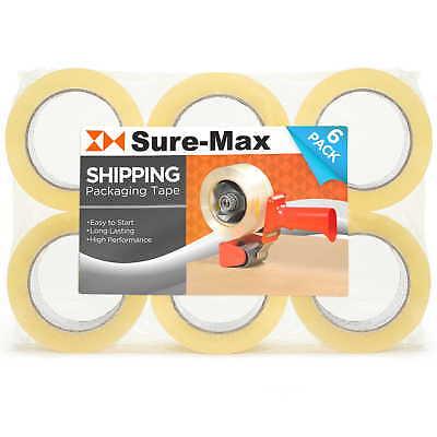 6 Rolls Carton Sealing Clear Packing Tape Box Shipping - 2 Mil 2 X 120 Yards