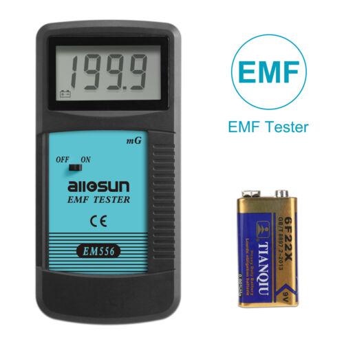 EMF Meter Electromagnetic Field Radiation Detector Handheld Mini Digital LCD