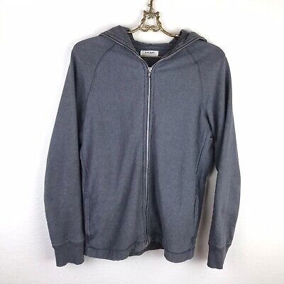 Acne Jeans Full Zip Sweatshirt Men's Size Medium Gray Cotton Hoodie