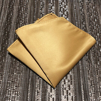 New Handkerchief Men's SOLID Hanky Pocket Square Hankie TAN GOLD Party Wedding
