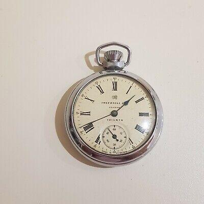 Ingersoll Triumph Pocket Watch, Spares Or Repair