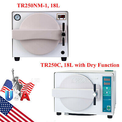 18 L Dental Autoclave Steam Sterilizer Medical Sterilization Wdry Function Ups