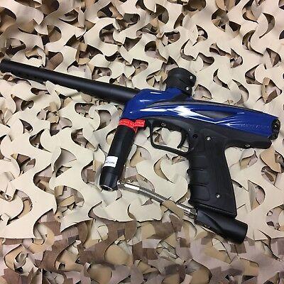 Used  Gog Enmey  68 Caliber Mechanical Paintball Gun Marker   Razor Blue