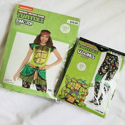 Nickelodeon Teenage Mutant Ninja Turtles Girls Halloween Costume Top + - Top Teenage Girl Halloween Costumes