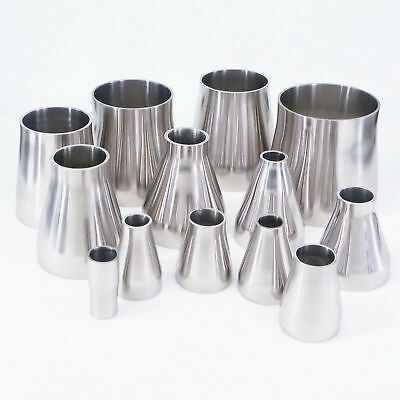 Multiple 304 Stainless Steel Sanitary Weld Concentic Reducer Pipe Adapters
