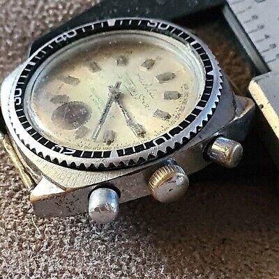 Ruhla Stopp-Meister chronograph,vintage Diver WR60 mechanical DDR GDR old German