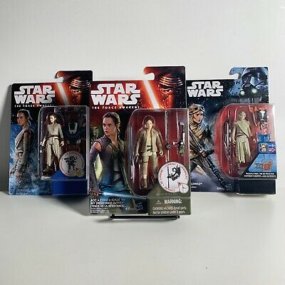 Star Wars Rogue One The Force Awakens 3.75 Action Figures REY X 3 Bundle