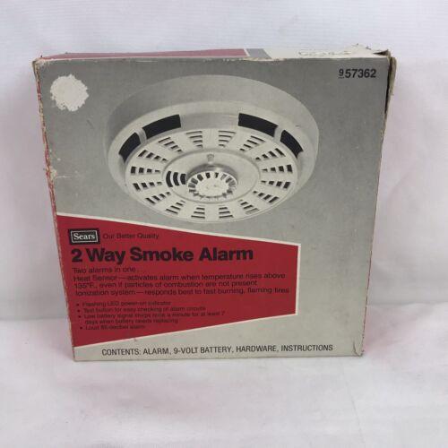Vintage Sears 2 Way Smoke Alarm New In Box Unused 1980s 957362