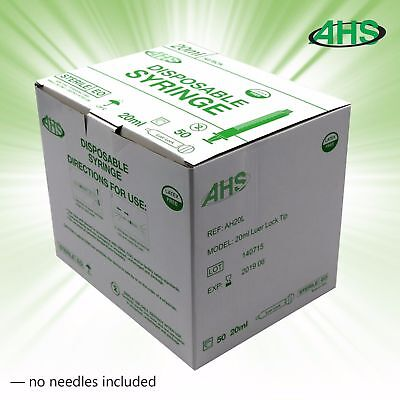 20ml 20cc Luer Lock Syringe Sterile 50box
