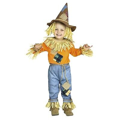 Little Scarecrow Wizard Of Oz Halloween Costume Baby Toddler 12-18 mo 3T 4T 6