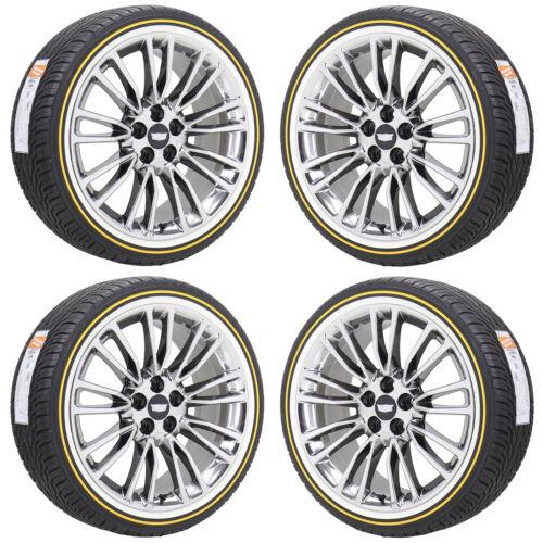 "20"" Cadillac Xts Ct6 Pvd Chrome Wheels Rims Vogue Tires Factory Oem Set 4765"