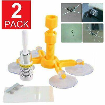 2-Pack Auto Glass Nano Repair Fluid Car Windshield Resin Crack Tool Kit eBay Motors