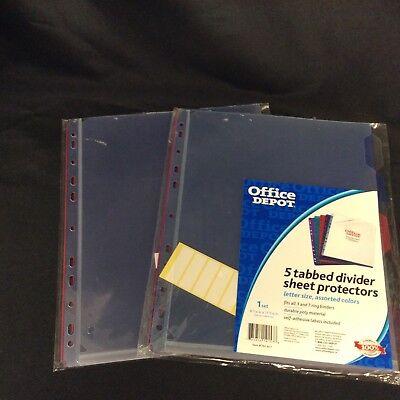 Plastic Pocket Dividers Office Depot 192-857 Lot Of 2