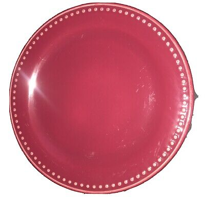 Roseville;Workshop Gerald Henn; Beaded Cranberry Jewel, Set Of 4 Dinner Plates