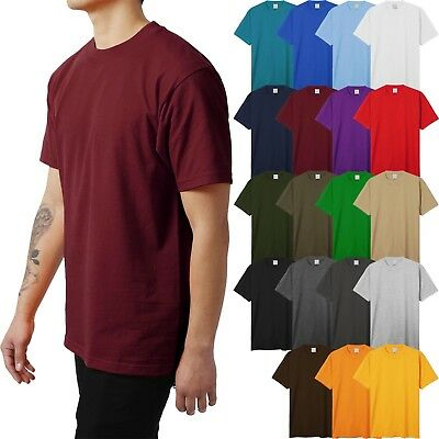 Mens HEAVY WEIGHT T Shirts SUPERMAX Plain Tee BIG AND TALL 5XL Solid Crew Neck Big And Tall Men Shirts