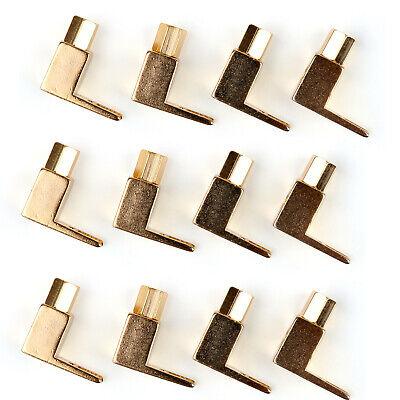 12 Pcs Brass Speaker Fork Terminal Spade For 4mm Banana Plug Adapter Us T2