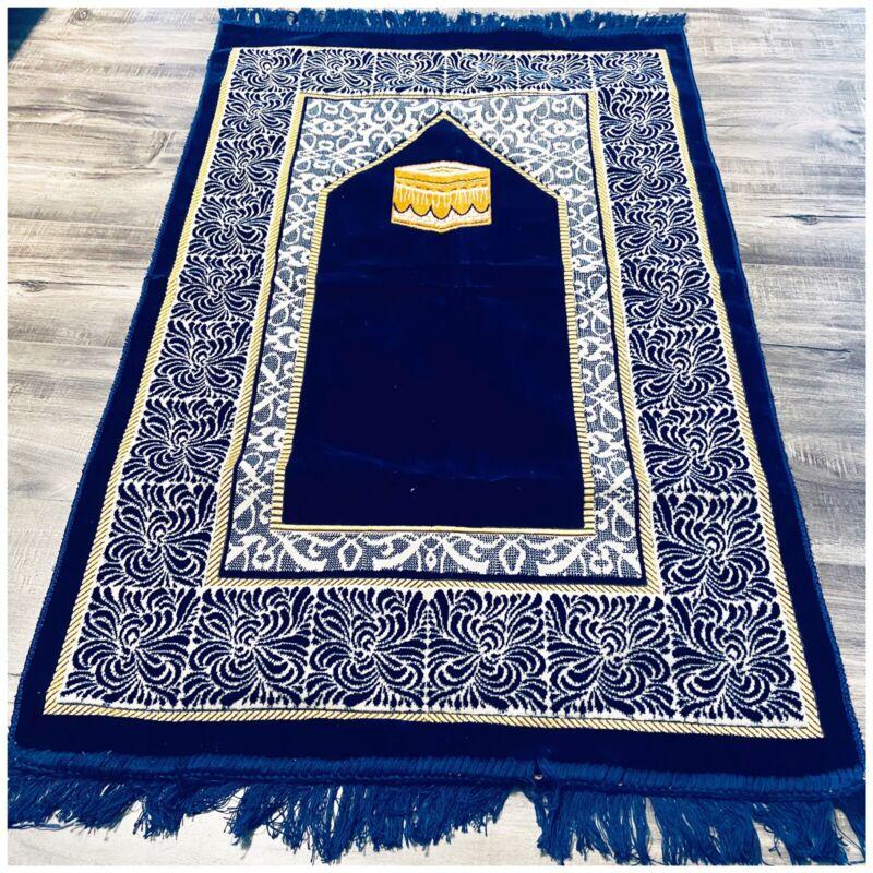 Made in Turkey Blue gold soft praying mat prayer