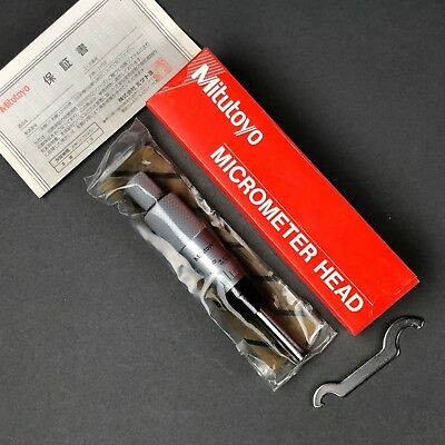 Mitutoyo 153-207 Micrometer Head W Carbide Tip Non-rotating 0-1 0.001 New