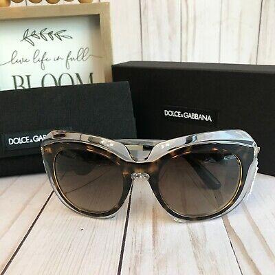Dolce & Gabbana DG4282 Women's Sunglasses Crystal Havana Oversized 4282 NWT