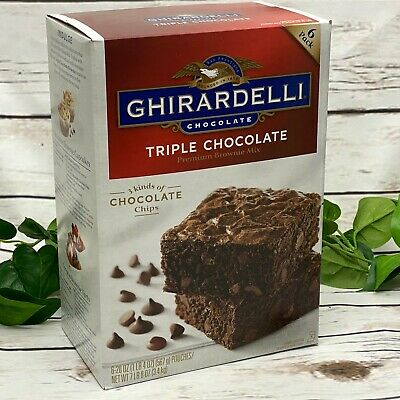 Ghirardelli Triple Chocolate Premium Brownie Mix 6 Pack 20 oz each - 7 lb Box