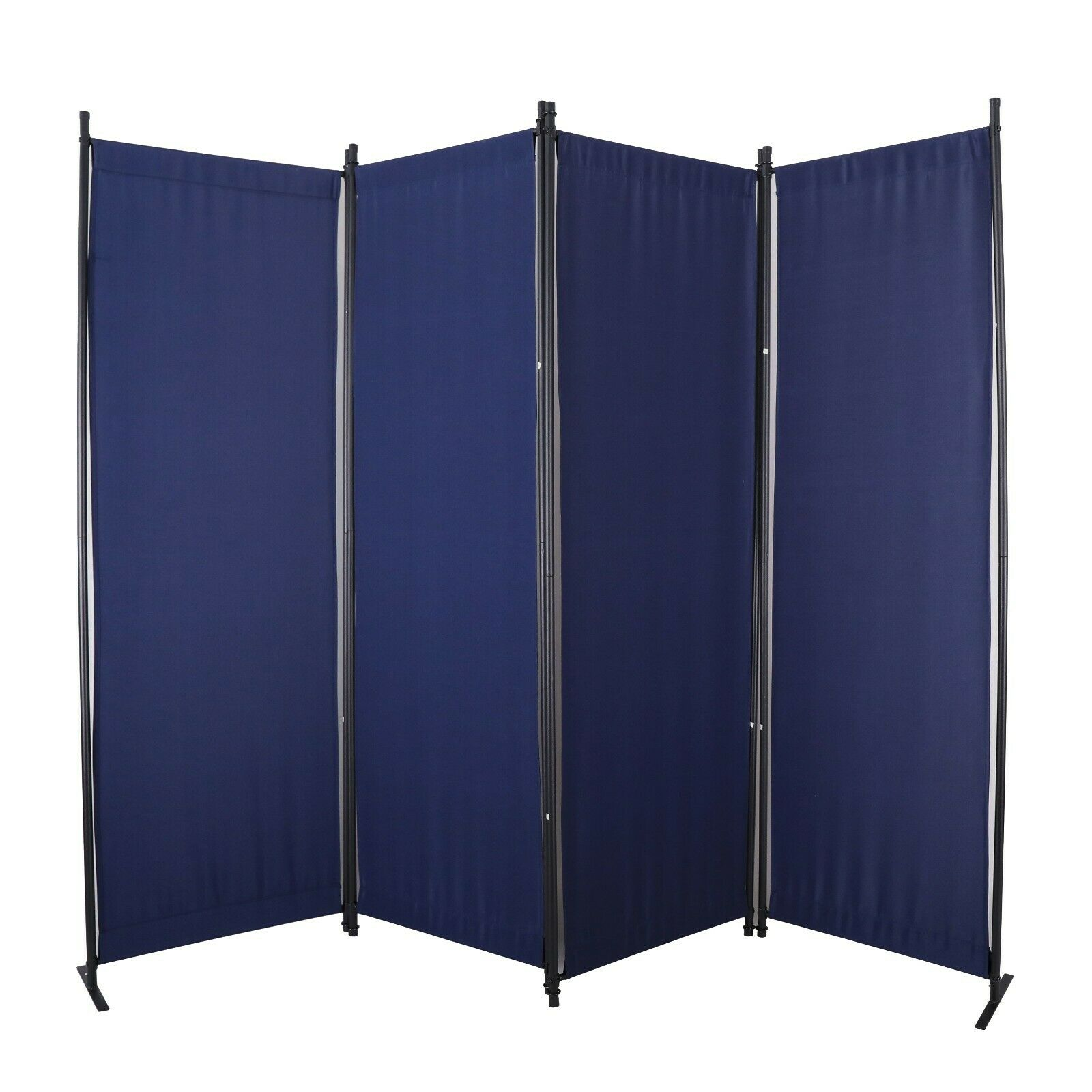 4 Panel Room Divider Privacy Screen Folding Home Accents Off