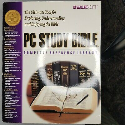 PC Study Bible 4 Biblesoft Reference Library Software Windows XP COMPLETE in box