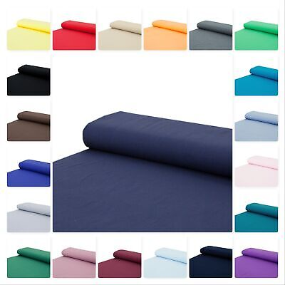 Baumwoll - Jersey Stoff einfarbig blau rot  - Meterware ab 25 x 160 cm - Nähen