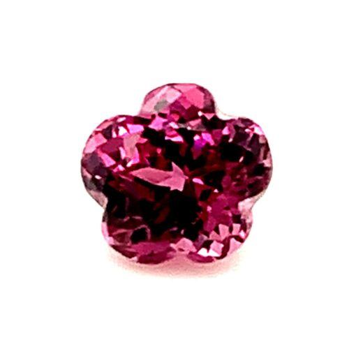 0.75ct Flower Cut Rhodolite Garnet Madagascar Untreated Natural Gemstone *Video*