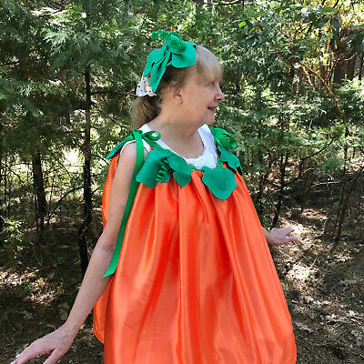 Pumpkin orange fall COSTUME one size NEW Fun and Easy to wear handmade