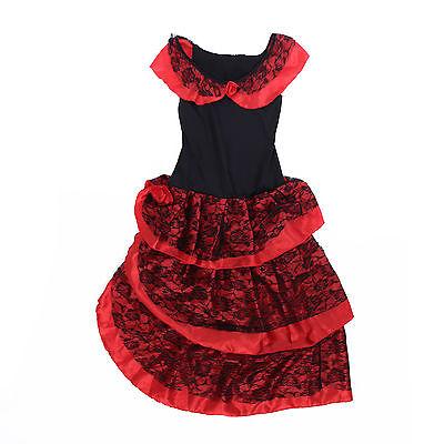 Flamenco Kleid Kostüme (sexy Damen Zigeunerin Spanierin Kostüm Flamencokleid Westernkostüm Tanzkleid)