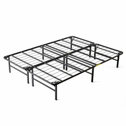 Queen, intelliBASE Lightweight Easy Set Up Bi-Fold Platform Metal Bed Frame