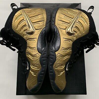 the best attitude fcf09 85f57 Nike Air Foamposite Pro Little Posite Metallic Gold Black SZ 6.5Y