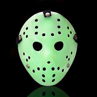 Glow In The Dark Jason Voorhees Style Hacker Horror Hockey Face Masks Halloween (Jason Voorhees Face Mask)