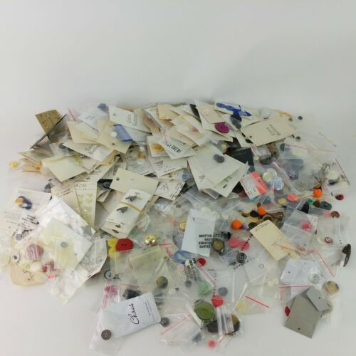 3 lb Lot Assorted Buttons Shapes Sizes Colors New Used Vintage Metal Plastic G4