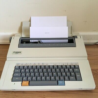 Canon Typewritter Es13 Electric Lightweight Portable With Cover Works.