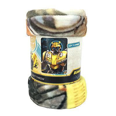 New Transformers Bumblebee Super Plush Soft Micro Raschel Throw Blanket - Raschel Plush Throw