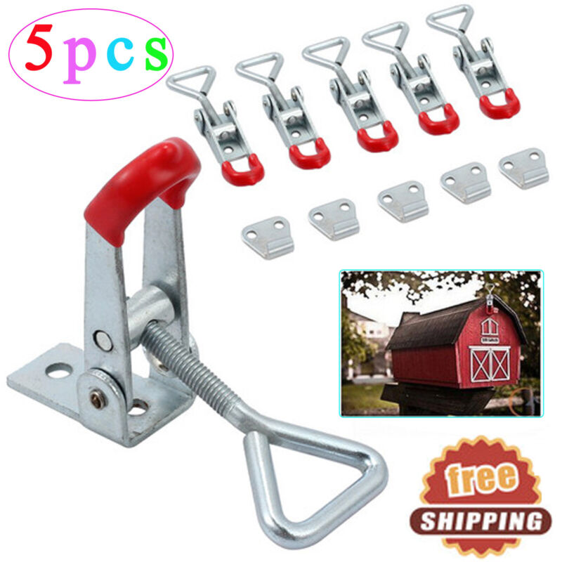 5 Pack Alloy Toggle Latch Catches Adjustable Lock Clamp For Boxes Case Cabinets