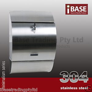 WALL-MOUNT-STAINLESS-STEEL-304-MODENA-MAILBOX-LETTERBOX-POST-LETTER-MAIL-BOX